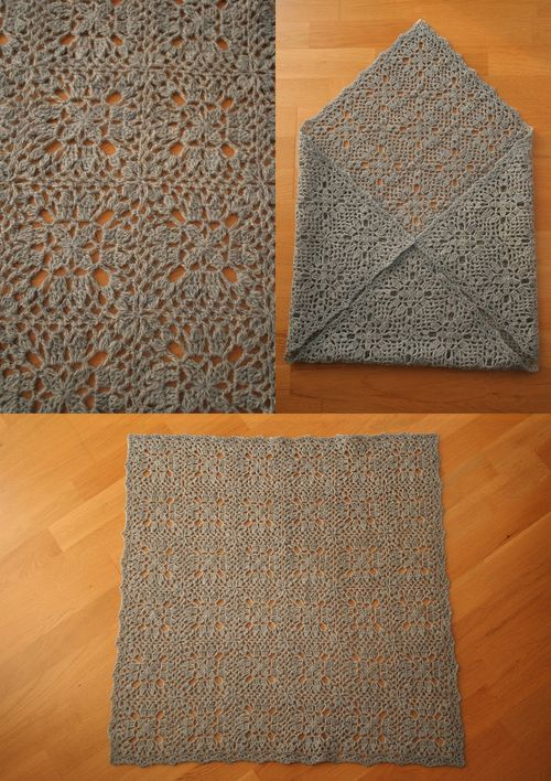 crochet wool blanket